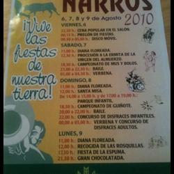 Fiestas Narros